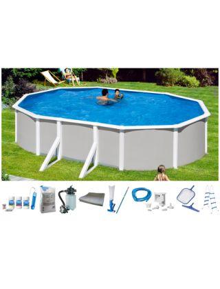 Komplett set ovalpool 9 tlg pool mit breitem handlauf for Baumarkt pool
