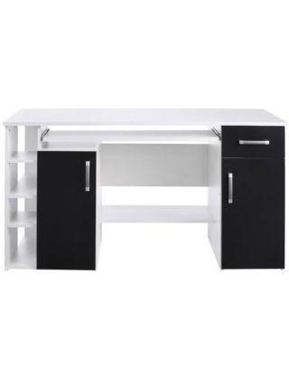 schreibtisch tim mit 5 f chern und tastaturauszug baumarkt x. Black Bedroom Furniture Sets. Home Design Ideas